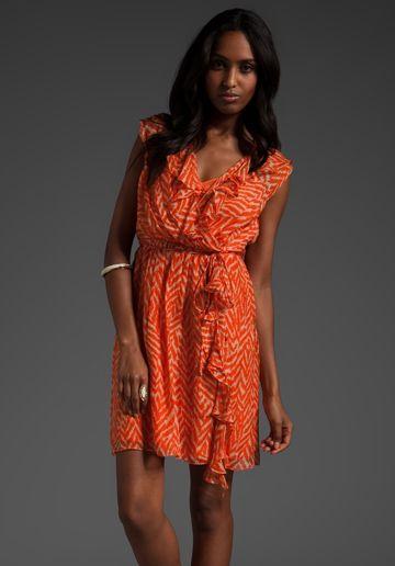 Orange & white dress