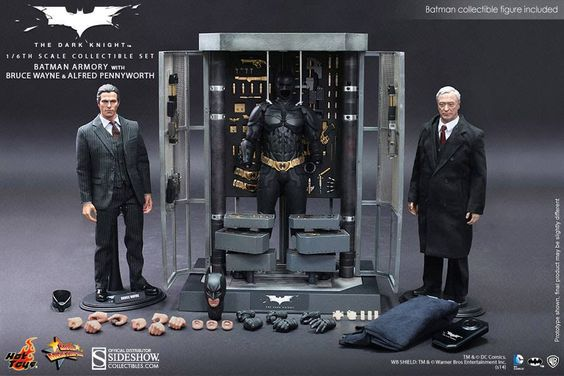 Hot Toys Action figures 1/6 scale: BATMAN ARMORY WITH BRUCE WAYNE & ALFRED. Product available in December 2014.