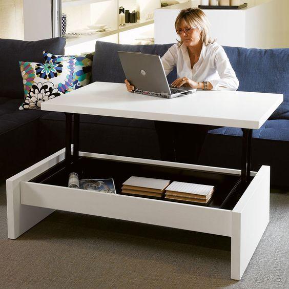 Mesa de centro que se eleva para el hogar pinterest for Escritorios de hogar