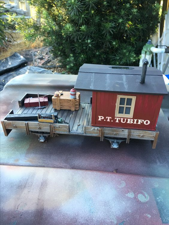 side picture of work caboose