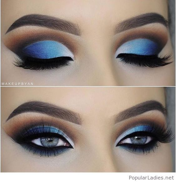 Blue eye makeup for blue eyes