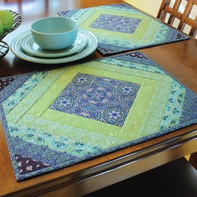 Quilt As You Go Placemats Casablanca Quilted Placemat Patterns Placemats Patterns Diy Quilt