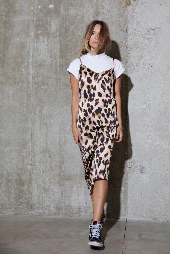 Slip dress leopard in trends leoprint  Slip dress tshirt Slip