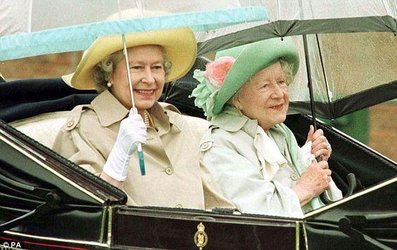 Queen Elizabeth  and her mother, the Queen Mother.  Mail Online