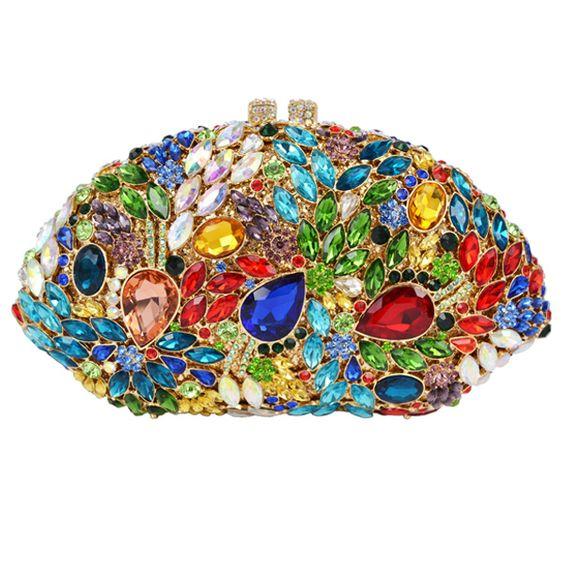 Multi Color Evening Bag Holiday Party Bag Big Crystal Diamond Women Clutch Bag_2     https://www.lacekingdom.com/