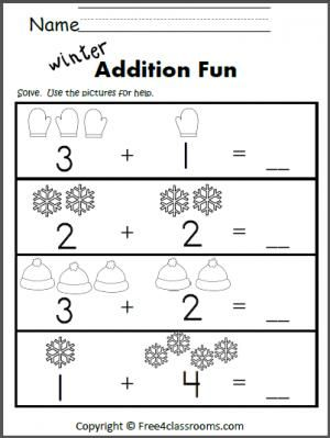 Addition Worksheets addition worksheets winter : Winter, Addition worksheets and Worksheets on Pinterest