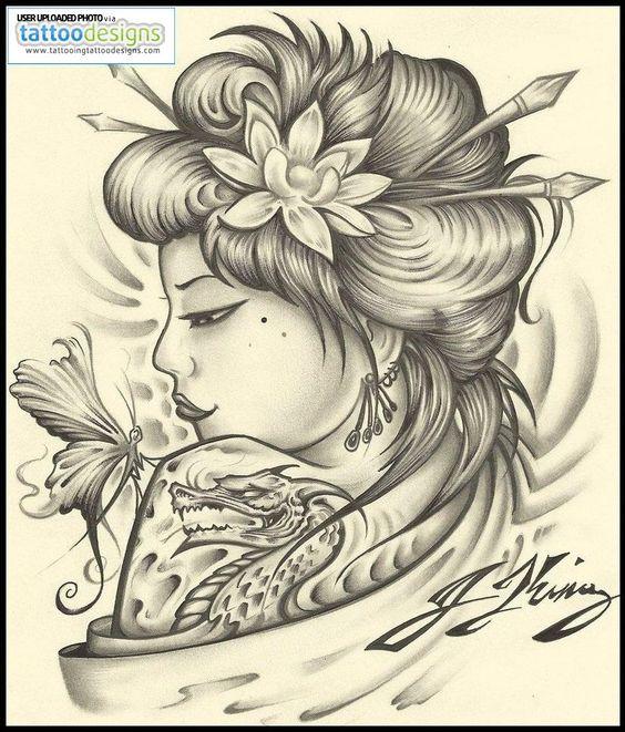 Geisha Tattoo By Jksart Image