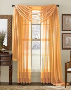 Orange Sheer Panel.  With twinkle lights behind it... only $4!