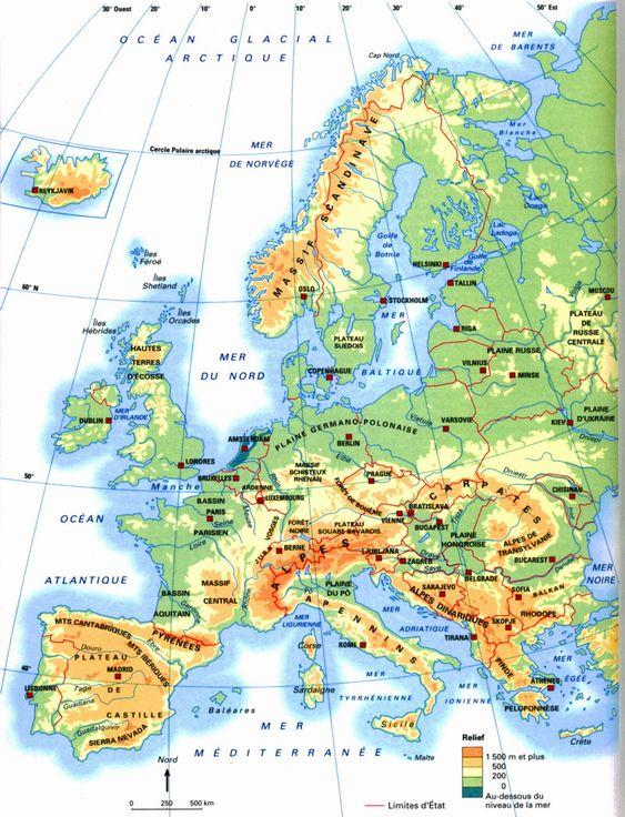 Géographie CM1 séquence 2 : les frontières de la France et