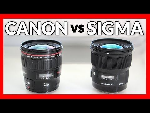 Sigma 24mm 1 4 Art Vs Canon 24mm 1 4l Ii Lens Shootout Youtube Canon Sigma Prime Lens