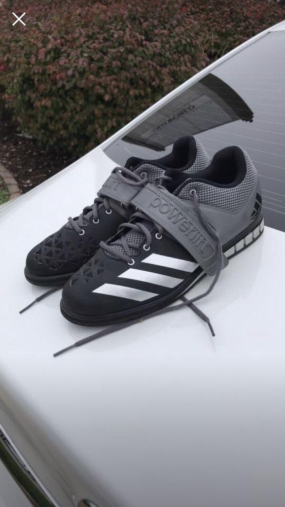 Adidas Powerlift Mens Size 11 1/2 Black & Grey Powerlifting Shoes ...