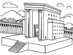 It is a picture of Clean solomon's temple coloring page