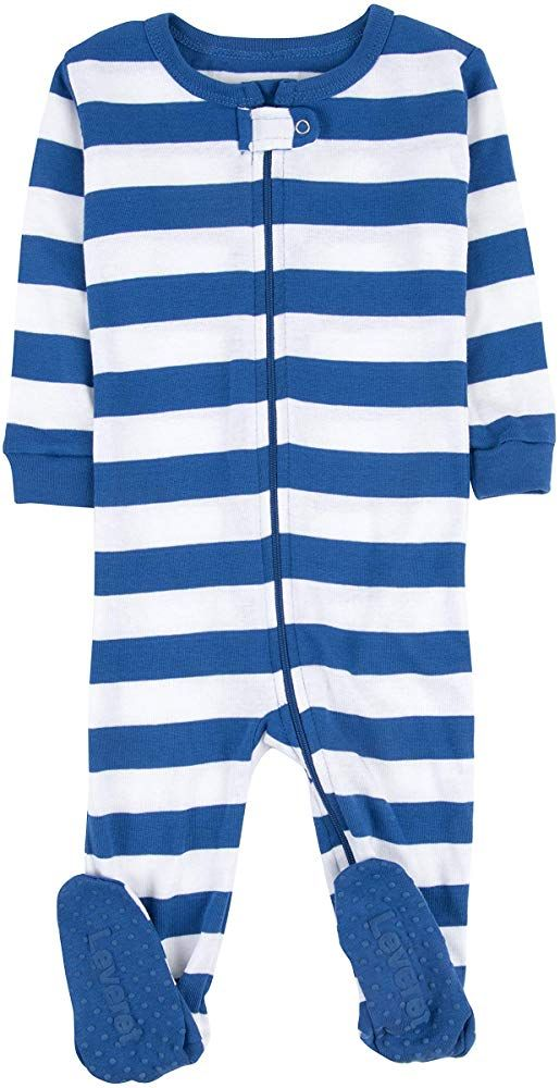 0 Months-5 Toddler Leveret Striped Baby Boys Footed Pajamas Sleeper 100/% Cotton Kids /& Toddler Pjs
