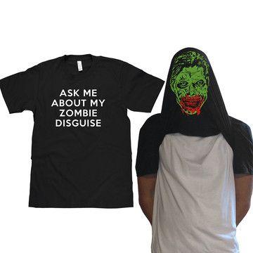 Zombie Face Flip Up Tee