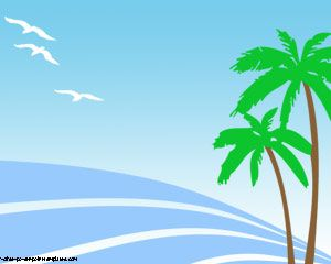 summer palms powerpoint templates and island cartoon | flowers, Modern powerpoint