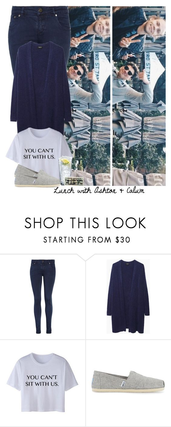 """Lunch with Ashton & Calum"" by zarina-fashion ❤ liked on Polyvore featuring moda, Victoria Beckham, Zucca e TOMS"