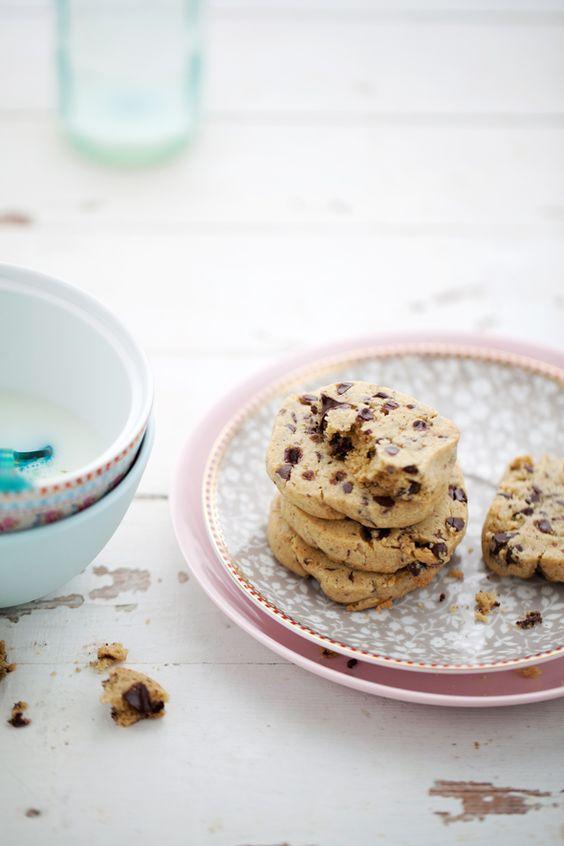 chocolate chip cookies with fleur de sel.
