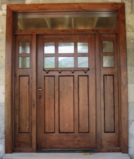Craftsman front doors new craftsman style front doors for Double doors exterior for homes