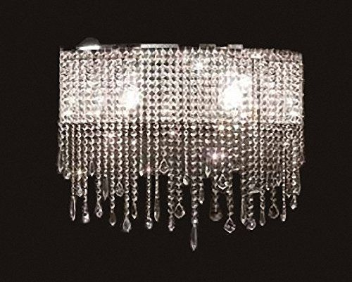 Siljoy Modern Crystal Wall Sconce Chandelier Contemporary Wall