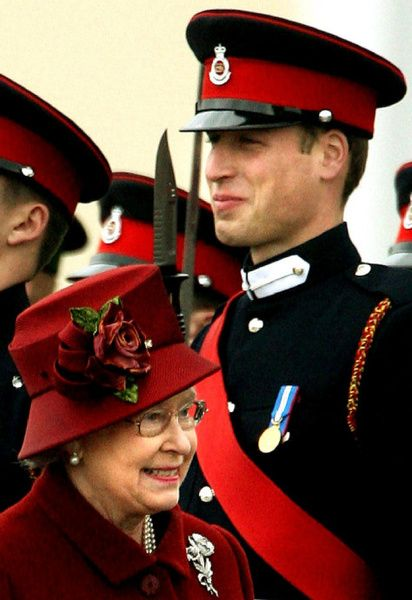 The Duke of Cambridge and Queen Elizabeth II