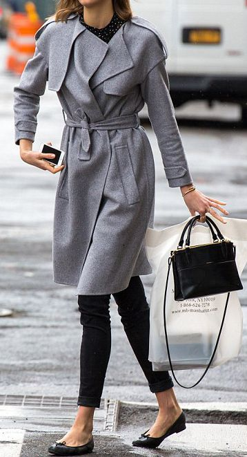 A medium grey wool coat would probably be a great investment. Needs to be versatile, something to dress up or down.Maybe more pea-coatey than this? Belted is good for my figure