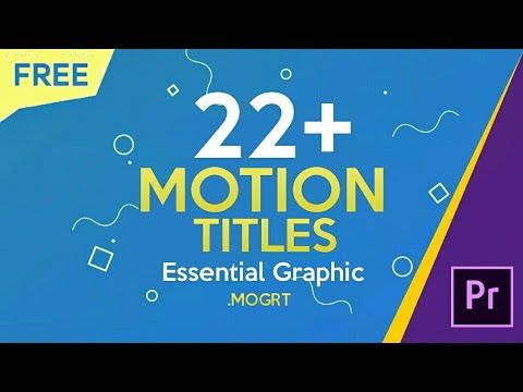 10 Free 22 Motion Titles Preset For Premiere Pro