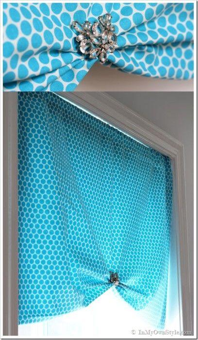 One Yard No Sew Window Treatment 3 Ways Pull Up