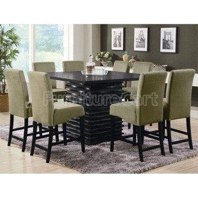 Stanton Counter Height Dinette with Green Chairs