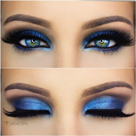 Blue eyeshadow, Royals and Blue on Pinterest