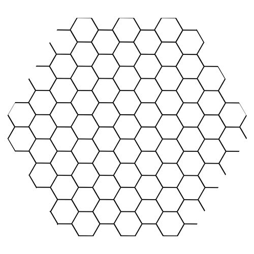 Sticker Deco Hexagone Nid D Abeille Noir Et Blanc Carrelage