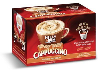 Hills Bros Salted Caramel Cappuccino Keurig K-Cups provided for free from #Influenster for the purpose of review. #CozyCapp
