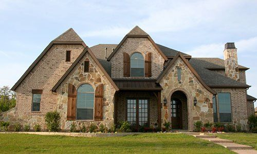 rock and shutters and old time cottage style