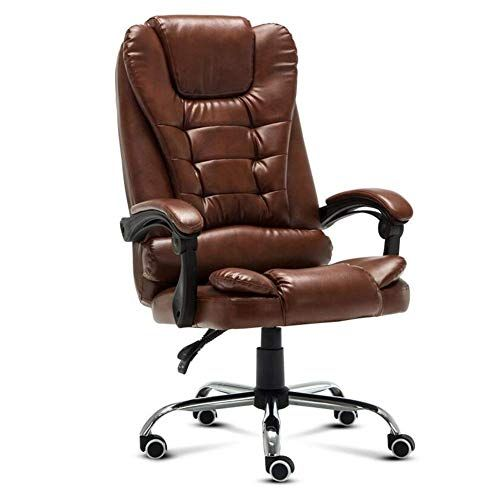 Wxf Ergonomic Office Chairs Executive Extra Padded High Back Tilt Reclining Faux Leather Desk Computer With Arms Chair Chair Swivel Office Chair Leather Chair