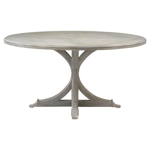 Adrea French Country Vintage Grained Oak Round Dining Table 60d Round Dining Table Country House Decor Dining Table