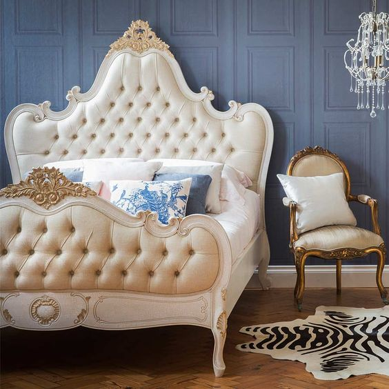 Palais Button Upholstered Bed (King Size) by The French Bedroom Company. #Frenchbedroom