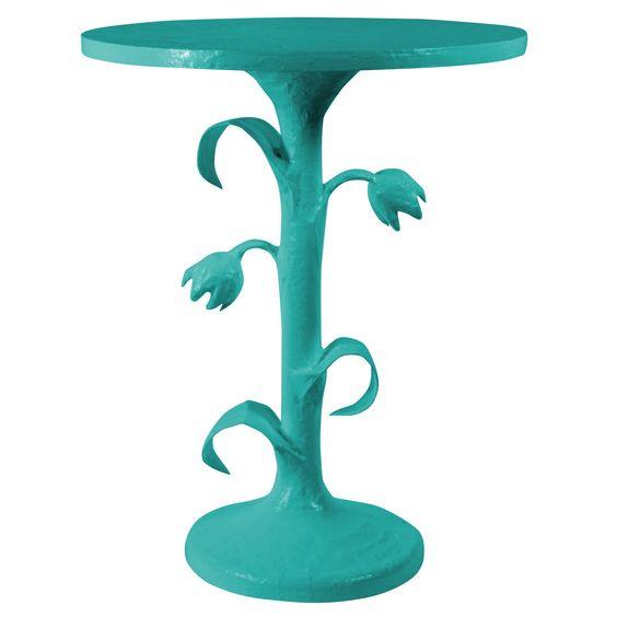 Stray Dog Designs Tulip Table Bahaman Sea Blue