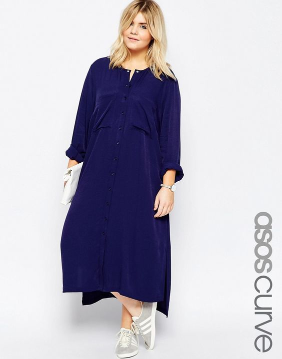 Image 1 - ASOS CURVE - Robe chemise mi-longue