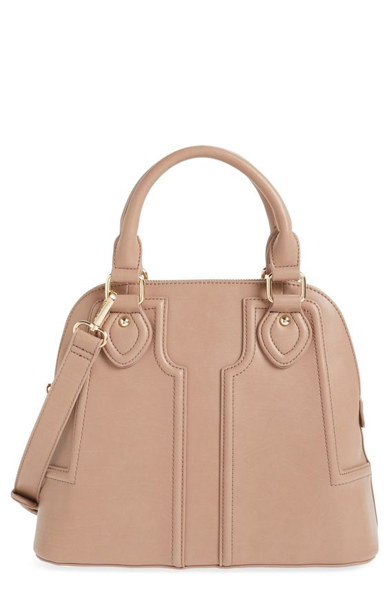 A neutral satchel is a must for this coming season! This one from Sole Society has a structured dome shape and would look fabulous against any color or pattern.