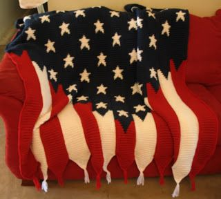 Crochet American Flag Afghan My Crafts Pinterest ...