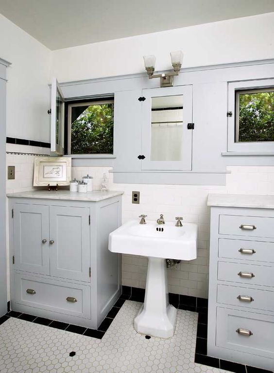 Craftsman Bathroom Medicine Cabinets And Bungalows On Pinterest