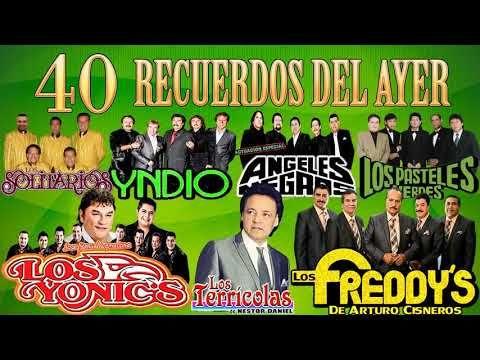 Freddys Terricolas Yndio Yonics Angeles Negros Pasteles Verdes Solitarios 40 Recuerdos Del Aye Canciones Románticas Pastelitos Verdes Musica Para Recordar
