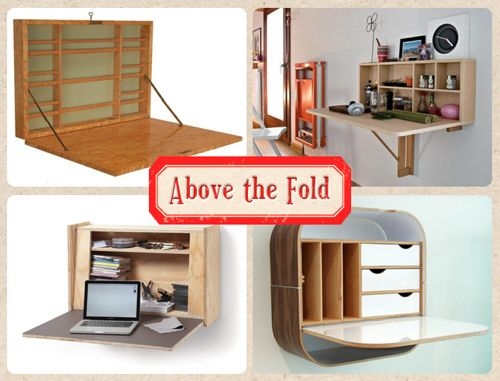 Fold down wall desk diy decor