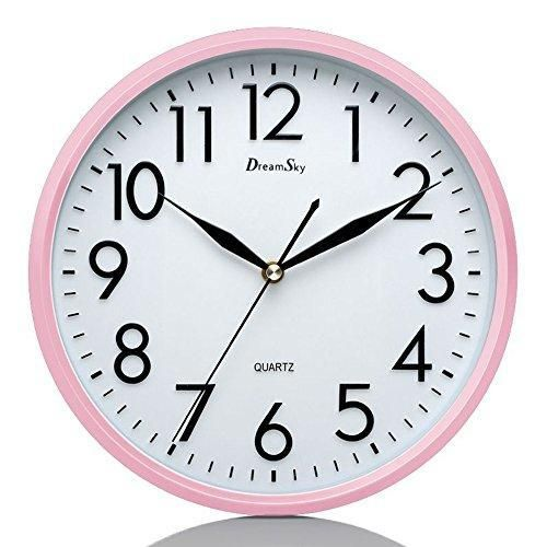 Dreamsky 10 Inches Silent Non Ticking Quartz Wall Clock Decorative Indoor Kitchen Clock 3d Numbers Display Battery Operated Wall Clocks Wall Clock Clock Clock For Kids