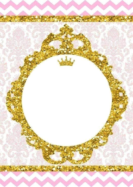 white border frame princess party