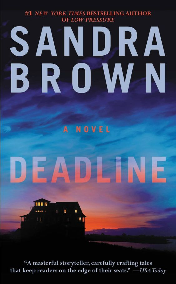 Deadline by Sandra Brown http://www.amazon.com/Deadline/dp/B00BAXFHWM%3FSubscriptionId%3D%26tag%3Dhpb4-20%26linkCode%3Dxm2%26camp%3D1789%26creative%3D390957%26creativeASIN%3DB00BAXFHWM&rpid=dx1391791864/Deadline A good very realistic story with lots of turns and twists to keep you guessing. - This book was a true page turner beginning to end. - The characters are developed well.