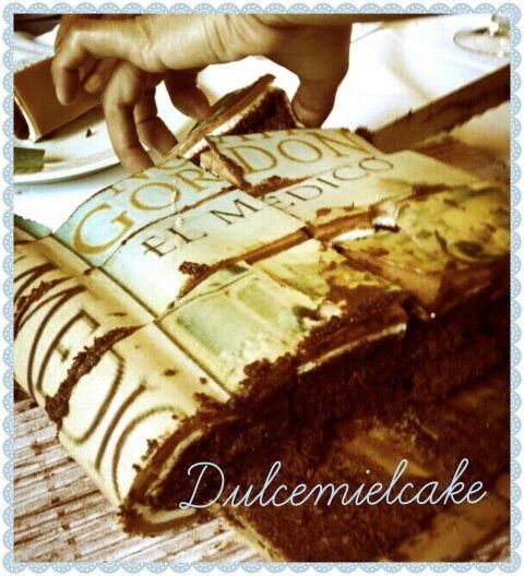 Tarta libro!!! Www.facebook.com/dulcemielcake #tartalibro #bookcake #noahgordon #kenfollet #dulcemielcake