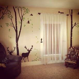 Baby Boy, Nursery, Deer Theme my husband would for sure want to do this