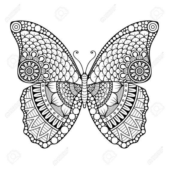 Ornament Schone Karte Mit Schmetterling Geometrisches Element Im Vektor Tattooimages Tattoo Images Tattoo Im In 2020 Schone Karte Muster Malvorlagen Mandala Bilder