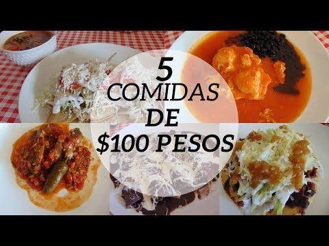 Menu Semanal 14 5 Comidas Por 100 Pesos Erika Blop Youtube Comida Economica Recetas Recetas De Comida Comida