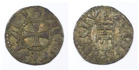 Moeda da época em que Balduíno IV reinou em Jerusalém.